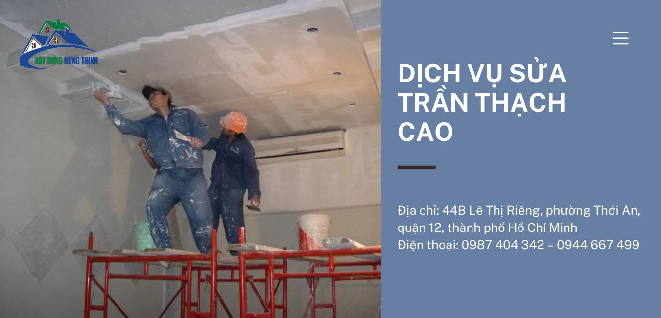Dịch vụ sửa trần thạch cao giá rẻ TP. HCM
